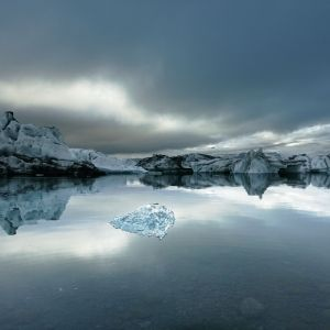 Glacier Lagoon Sunset