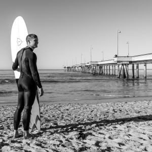 Surfer at Venice Beach