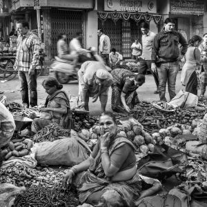 Chaos of the vegetable market